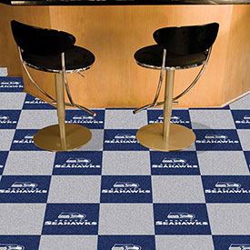 "Seattle Seahawks Carpet Tiles 18"" x 18"" Tiles"