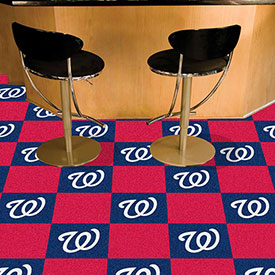 "Washington Nationals Carpet Tiles 18"" x 18"" Tiles"