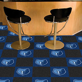 "Memphis Grizzlies Carpet Tiles 18"" x 18"" Tiles"