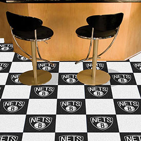 "Brooklyn Nets Carpet Tiles 18"" x 18"" Tiles"