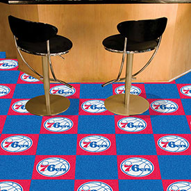 "Philadelphia 76ers Carpet Tiles 18"" x 18"" Tiles"