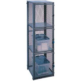 "Stor-More® Dispatcher Locker Triple Front Door W/Triple Rear Door 24""Wx30""Dx79-1/2""H, Mesh Top"