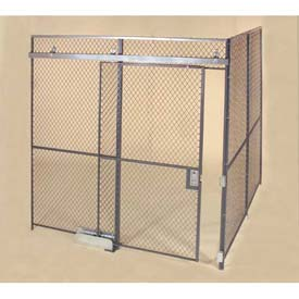 Wov-N-Wire™ Wire Mesh Pre-Designed, 2 Sided Room Kit, 20'W X 10'D X 10'H, W/Slide Door