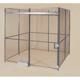 Wov-N-Wire™ Wire Mesh Pre-Designed, 4 Sided Room Kit, 20'W X 15'D X 10'H, W/Slide Door