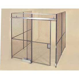 Wov-N-Wire™ Wire Mesh Pre-Designed, 3 Sided Room Kit, 20'W X 20'D X 8'H, W/Slide Door