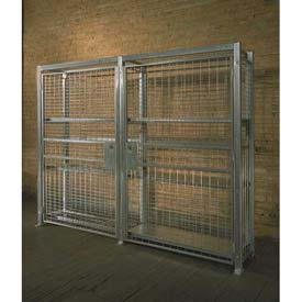 "Stor-More® Loss Prevention Security Cabinet/Locker 94""W X 18""D X 96""H W/Hinged Double Door"