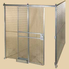 Qwik-Fence® Wire Mesh Pre-Designed, 2 Sided Room Kit, W/O Roof 16'W X 16'D X 12'H, W/Slide Door