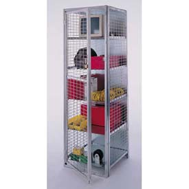 "Stor-More® Visibility Locker 18""W X 18""D X 72""H W/4 Adjustable Shelves & Top/Bottom"
