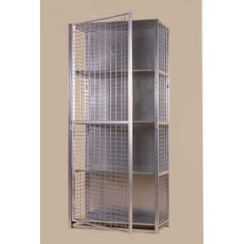 "Stor-More® Visibility Locker 36""W X 24""D X 80""H W/3 Adjustable Shelves & Top/Bottom"
