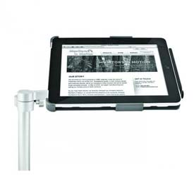 Tablet Docking Station For iPad 2 or iPad 3 with Slat Wall Mount and Secure Holder
