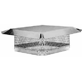 "Master Flow® Chimney Cap Stainless Steel 9""L X 9""D"