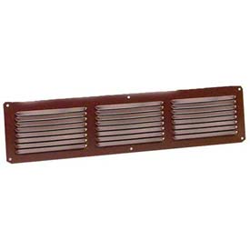 "Master Flow® Aluminum Undereave Vent, 16""W X 8""H, Brown"