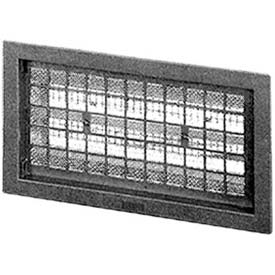 "Master Flow®  Automatic Foundation Vent, 16""W X 8""L, Black - Pkg Qty 10"