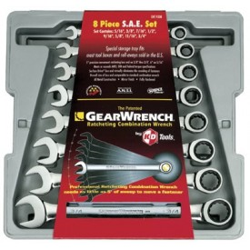 8 Pc. Combination Ratcheting Wrench Sets, GEARWRENCH 9308 by