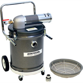 "15 Gallon D Pneumatic Vacuum Unit w/ 1.5"" Inlet - N151DJ"