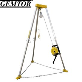 Gemtor CSRS3-50S, Complete Confined Space Retrieval System - 50' - Stainless Steel Cable