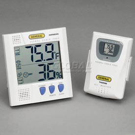 General Tools EMR963HG Wireless Thermo-Hygrometer with Remote Sensor