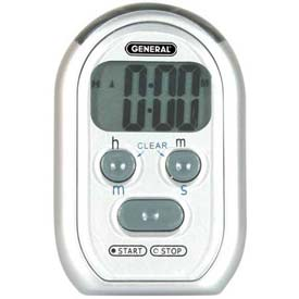 Digital Count-Up/Count-Down Timer With Audible Beeper, Red Led & Vibration Alarm Package Count 5 by