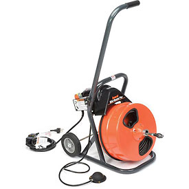 "General Wire MRP-B Mini-Rooter Pro Drain/Sewer Cleaning Machine W/ 75' x 3/8""Cable & 4 Pc Cutter Set"