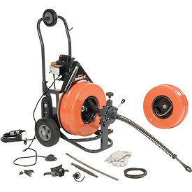 General Wire P-S92-A Speedrooter 92 Sewer Cleaning Machine includes 2 Cables & Cutter Set
