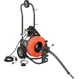 "General Wire P-ME-C-S The Metro Drain/Sewer Cleaning Machine W/ 100' x 9/16"" Cable & 4 Pc Cutter Set"