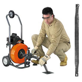 "General Wire P-T3-D Sewerooter T-3 Drain/Sewer Cleaning Machine W/100' x 1/2""Cable & 8 Pc Cutter Set"