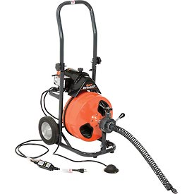 "General Wire P-XP-B Mini-Rooter XP Drain/Sewer Cleaning Machine W/ 75' x 3/8""Cable & 4 Pc Cutter Set"