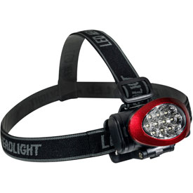 GoGreen Power, 10 LED Headlamp, GG-113-10HLRD, Red