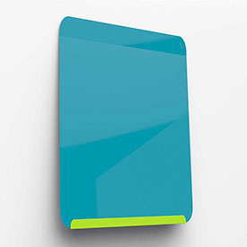 """Ghent Link Portable Whiteboard - 24"""" x 18"""" - Lime Green Base/Blue Face"""