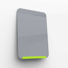 """Ghent Link Portable Whiteboard - 24"""" x 18"""" - Lime Green Base/Gray Face"""