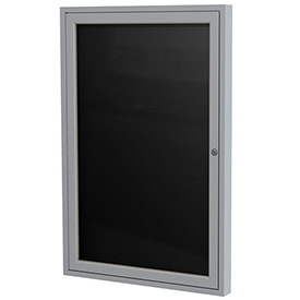"Ghent® Outdoor Enclosed Satin Letter Board - 24""W x 36""H"