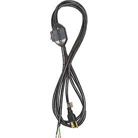 Carol 02053.70.01 12' Sjt Power Supply Replacement Cord W/ Switch, 18awg 10a/125v-Black by