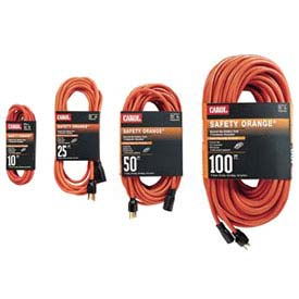 Carol® 03327.63.04 25' Safety Orange Extension Cord, 16awg 10a/125v - Pkg Qty 24