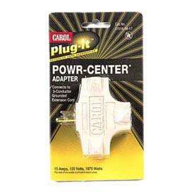 Carol 04781.96.17 Plug-It /#174; Powr-Center /#174; Adapter 15a/125v - Beige - Pkg Qty 5 - Pkg Qty 5