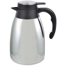 Genuine Joe Classic Vacuum Carafe, Classic, Mirror Finish, 1.2L, Steel Gray by