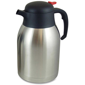 Click here to buy Genuine Joe Double Wall Vacuum Carafe, Everyday, 2.0L, Stainless Steel.