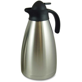 Click here to buy Genuine Joe GJO11958 Vacuum Carafe, Contemporary, 2.0L, Stainless Steel.