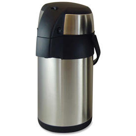 Genuine Joe GJO11960 High Capacity Vacuum Airpot, 2.5L Cap., Stainless Steel by