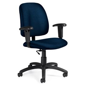 Global™ Task Chair with Arms - Fabric - Low Back - Ocean - Goal Series