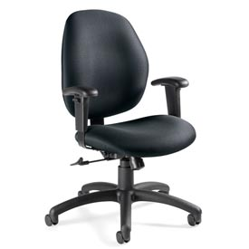 Global™ Tilter Office Chair - Fabric - Low Back - Stone - Graham Series