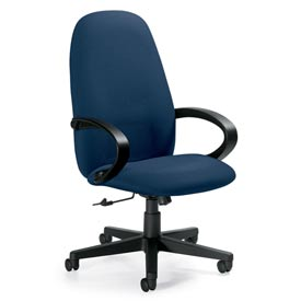 Global™ Enterprise - Tilter Office Chair - Fabric - High Back - Navy - Enterprise Series