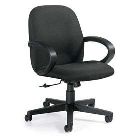 Global™ Enterprise - Tilter Office Chair - Fabric - Low Back - Black - Enterprise Series