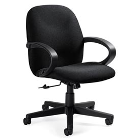 Global™ Enterprise - Tilter Office Chair - Fabric - Low Back - Gray - Enterprise Series