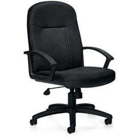 Global™ Offices To Go Bonded Leather Managers Chair  - Black