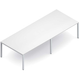 "Buy Global Conference Table Laminate 120""W x 48""D x 29""H White Princeton Series"