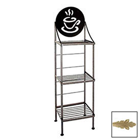 "Art Silhouette Bakers Rack 15""W Coffee Cup (Champagne) by"