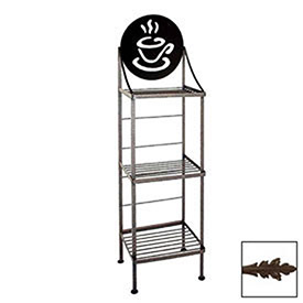 """Click here to buy Art Silhouette Bakers Rack 15""""W Coffee Cup (Deep Bronze)."""