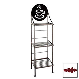 "Art Silhouette Bakers Rack 15""W Coffee Cup (Deep Red) by"