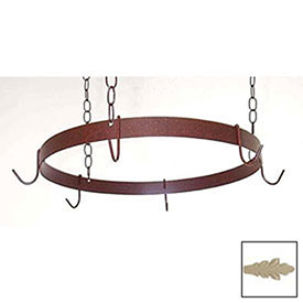 Hanging Pot Rack, Round With 6 Hooks & 3 Chains (Stone) by
