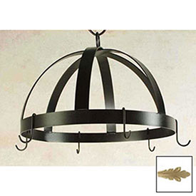 Hanging Pot Rack, Domed With 8 Hooks (Champagne) by